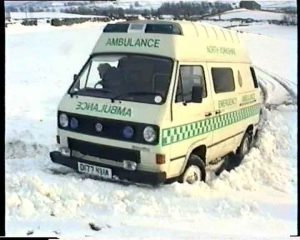Ambulance in the Snow